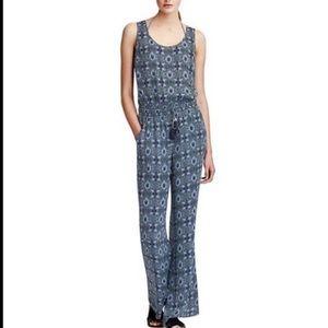 Tory Burch Laguna Print Silk Jumpsuit